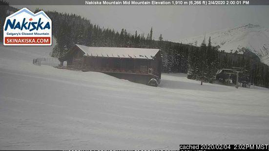 Nakiska webcam hoje à hora de almoço