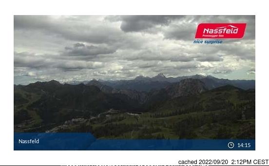 Nassfeld webcam at 2pm yesterday