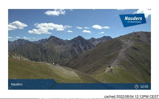Webcam de Nauders à 14h hier