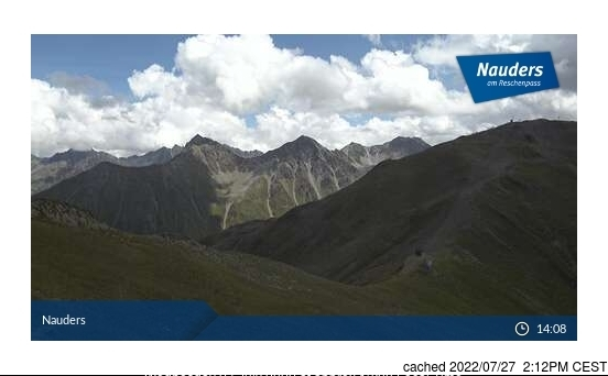 Nauders webcam at 2pm yesterday
