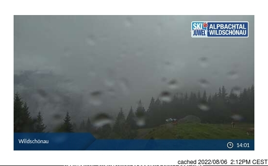 Niederau - Wildschonau webcam at lunchtime today