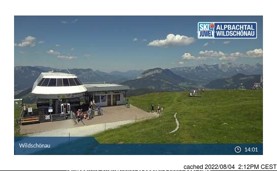 Niederau - Wildschonau webcam at 2pm yesterday
