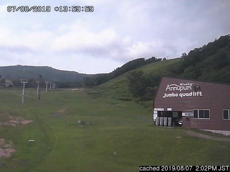 Niseko Annupuri webcam all'ora di pranzo di oggi
