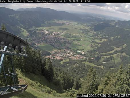 Oberammergau/Laber webcam at lunchtime today