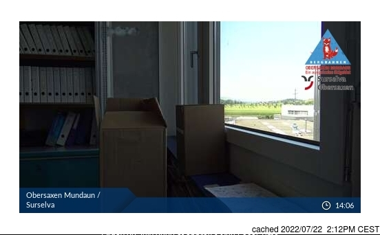 Obersaxen - Mundaun - Val Lumnezia webcam at 2pm yesterday