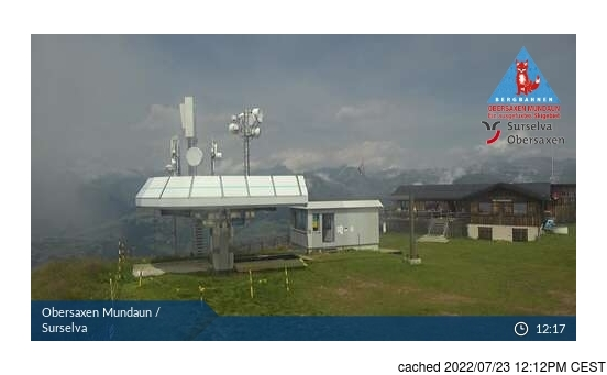 Live Snow webcam for Obersaxen - Mundaun - Val Lumnezia