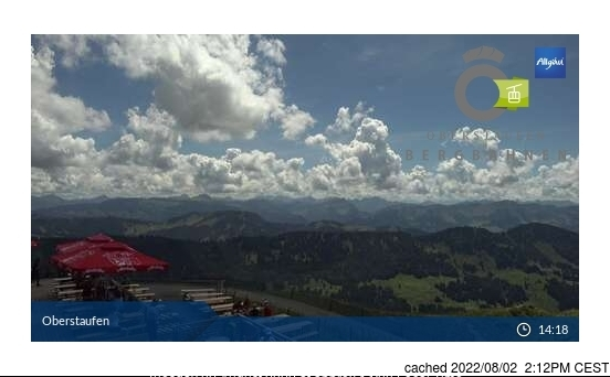 Oberstaufen webcam at 2pm yesterday