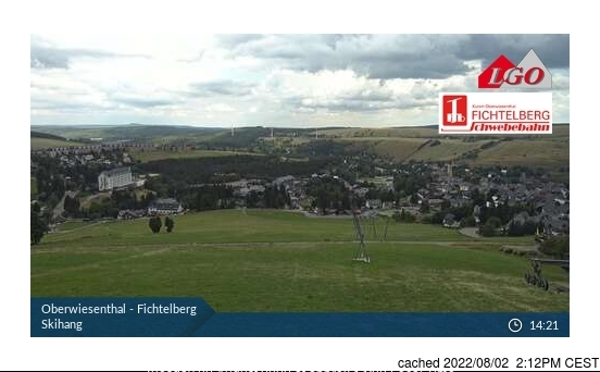 Oberweissbach webcam at lunchtime today