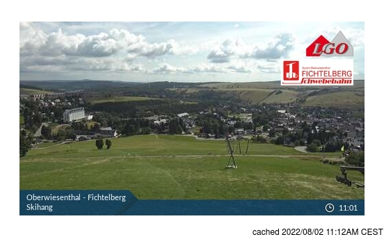 Live Snow webcam for Oberweissbach