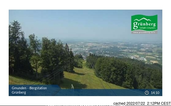 Obsteig/Grünberg webcam at 2pm yesterday