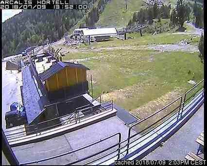 Vallnord-Arcalís webbkamera vid kl 14.00 igår