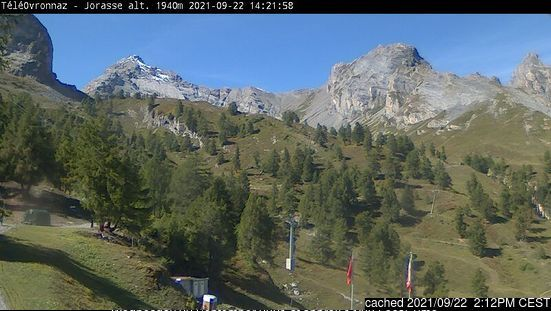 Ovronnaz webcam at 2pm yesterday