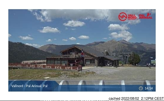 Vallnord-Pal webcam at lunchtime today