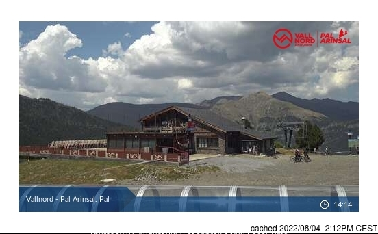 Vallnord-Pal webcam at 2pm yesterday