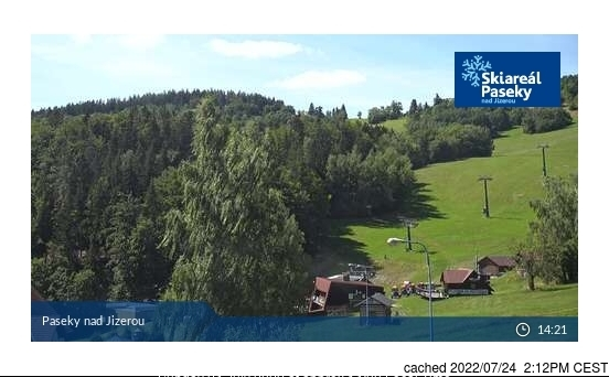 Paseky nad Jizerou webcam at lunchtime today