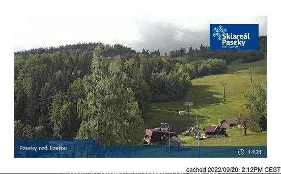 Paseky nad Jizerou webkamera ze včerejška ve 14 hod.