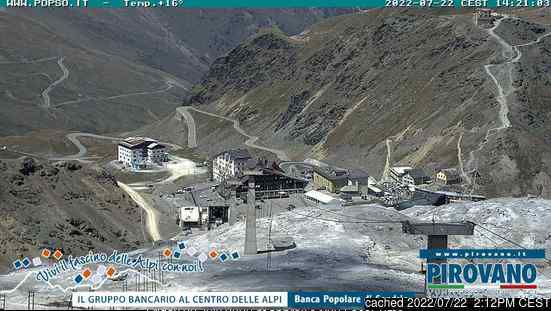 Passo Stelvio webcam at 2pm yesterday