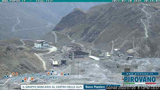 Live webcam per Passo Stelvio se disponibile