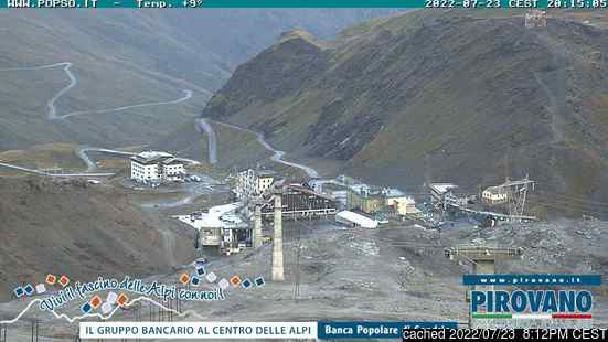 Live Snow webcam for Passo Stelvio