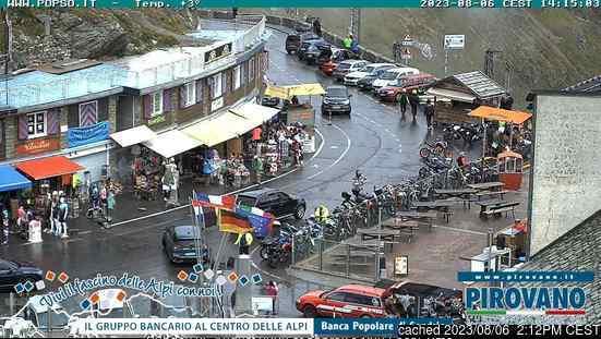 Passo Dello Stelvio Stilfserjoch webcam all'ora di pranzo di oggi