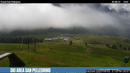 Passo San Pellegrino webbkamera vid lunchtid idag