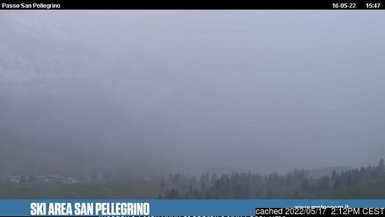 Passo San Pellegrino webcam at 2pm yesterday