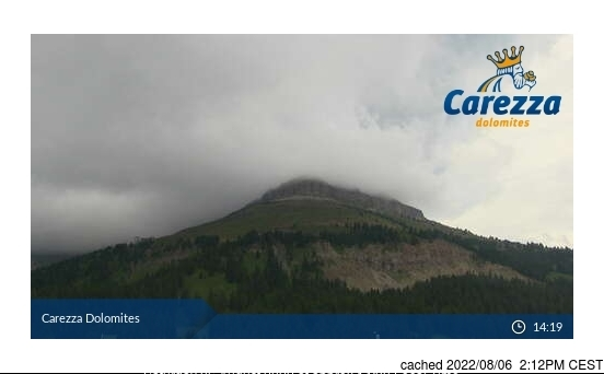 Carezza Webcam gestern um 14.00Uhr