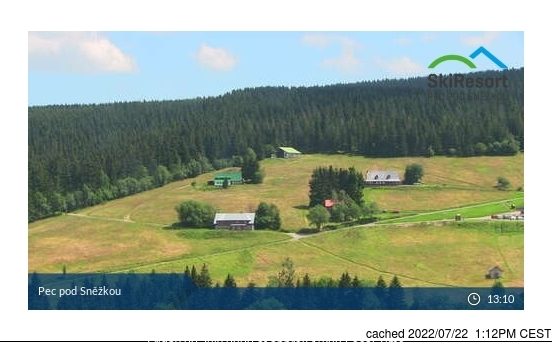 Pec pod Sněžkou webcam at lunchtime today