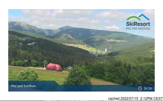 Pec pod Sněžkou Webcam gestern um 14.00Uhr