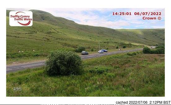 Pen-y-Fan Webcam showing current snow conditions