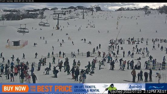 Perisher webcam all'ora di pranzo di oggi