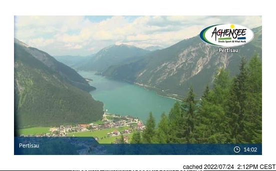 Pertisau am Achensee webcam at lunchtime today
