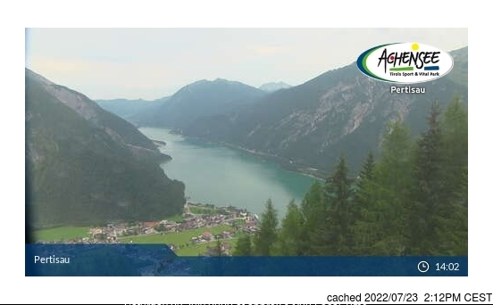 Pertisau am Achensee webcam at 2pm yesterday