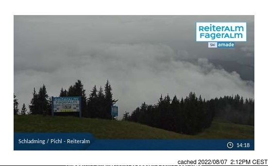Reiteralm webcam at lunchtime today