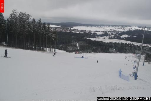 Webcam de Plešivec – Abertamy a las 2 de la tarde ayer