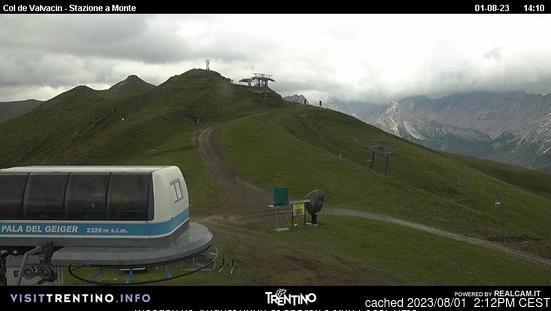 Pozza di Fassa webcam at 2pm yesterday
