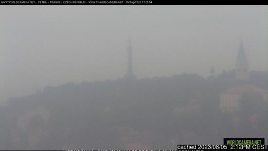 Praha - Petřín webbkamera vid kl 14.00 igår