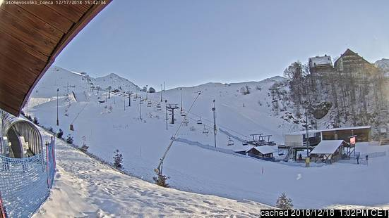 Mondolè (Prato Nevoso and Artesina) webcam at 2pm yesterday