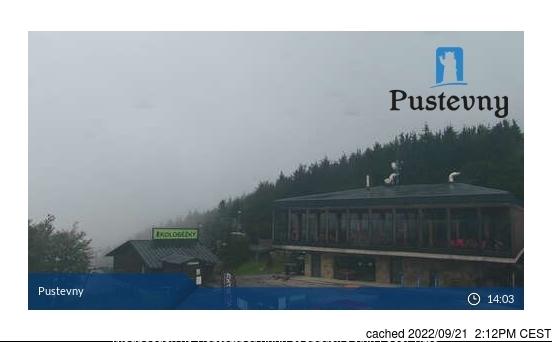 Webcam de Pustevny a las 2 de la tarde ayer