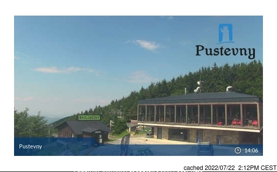 Pustevny webcam at 2pm yesterday