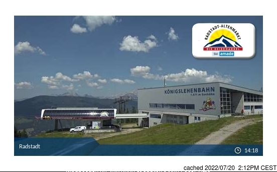 Radstadt/Altenmarkt webcam às 14h de ontem
