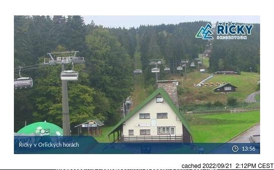 Bugün akşam yemeğinde Říčky v Orlických horách'deki webcam