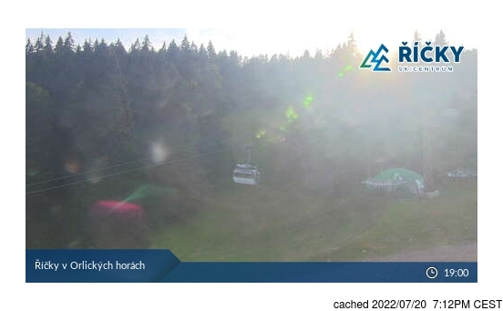 Říčky v Orlických horách için canlı kar webcam