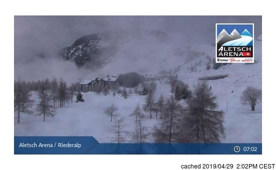 Riederalp - Aletsch webcam at 2pm yesterday