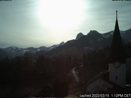 Rossberg Oberwil webcam at lunchtime today