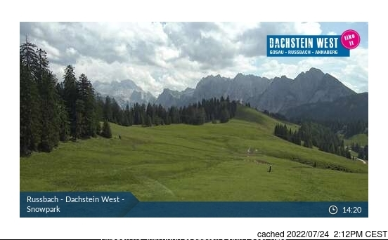 Rußbach webcam at 2pm yesterday