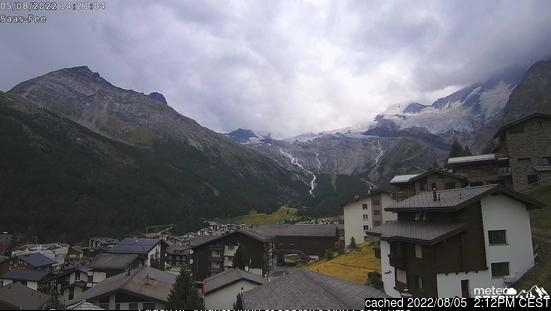 Saas Fee webcam alle 2 di ieri sera
