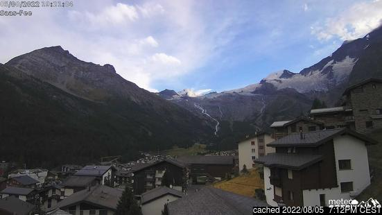 Live webcam per Saas Fee se disponibile