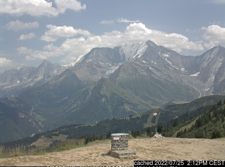 Saint Gervais webcam at lunchtime today