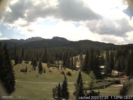 San Cassiano (Alta Badia) webcam at 2pm yesterday